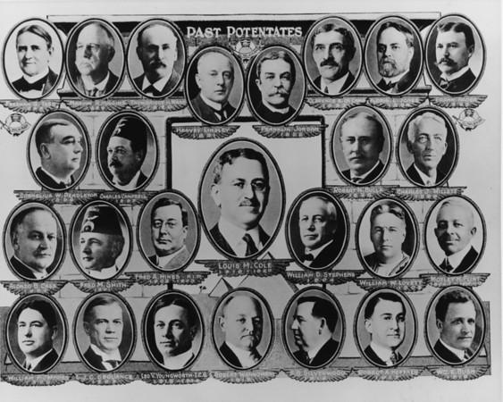 Photos of Shriner's past potentates, 1888-1920