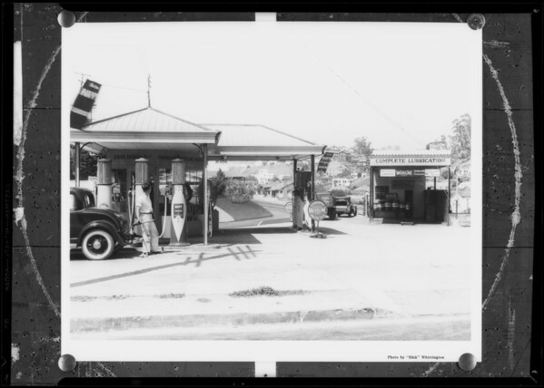 Service station after retouching, Southern California, 1932