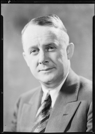 Portrait of H.A. Graham, Southern California, 1931