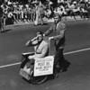 "American Legion parade, Long Beach, veteran in wheelchair from American Legion post 85, Miami Beach, Florida. ""It's always June in Miami"""