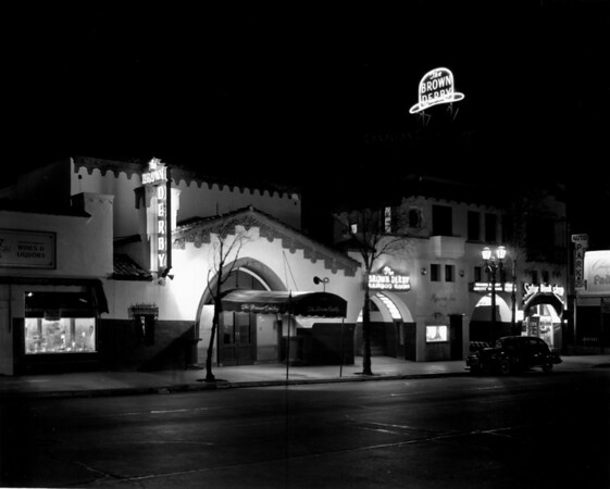 The Brown Derby Restaurant on Vine Street in Hollywood
