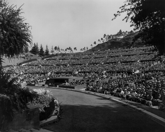 An audience of 30,000 at a Hollywood Bowl event