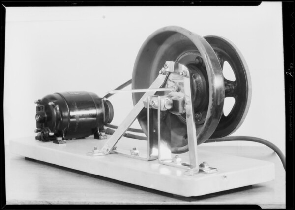 Test scale & brake tester, Pennzoil Laboratories, Southern California, 1932