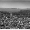 Aerial view, Hollywood, Cahuenga Pass and Hollywood Freeway (US-101)