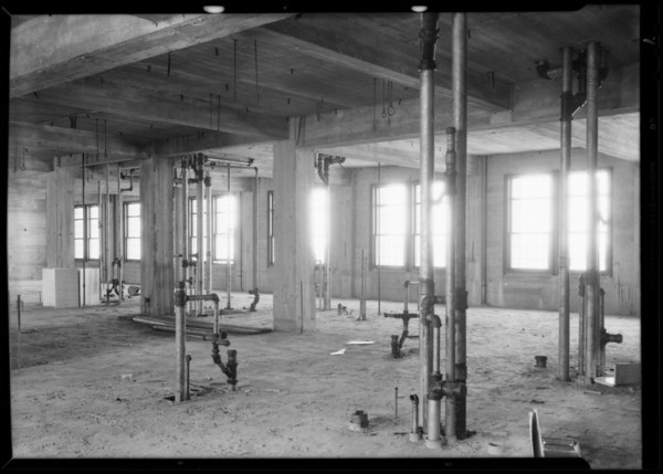 Plumbing at County Hospital, Howe Brothers, Los Angeles, CA, 1930