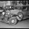 Cadillac sedan, Union Auto Insurance, Southern California, 1931