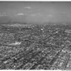 Aerial view of Downtown Los Angeles, Coliseum