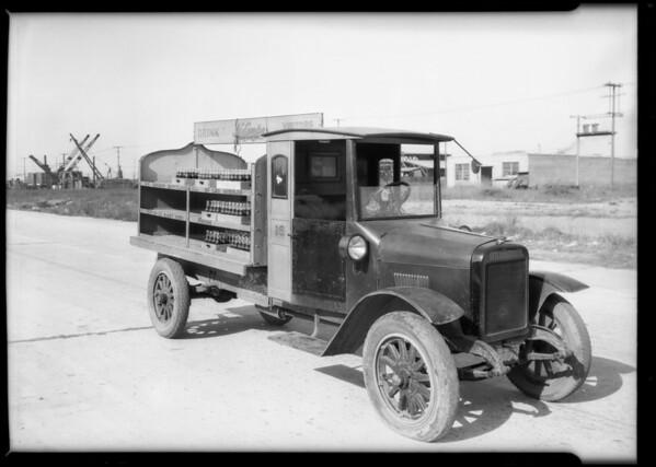NuGrape trucks, Southern California, 1925