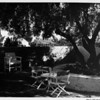 Residential home in 1948, patio of 1948, patio furniture of 1948, backyards