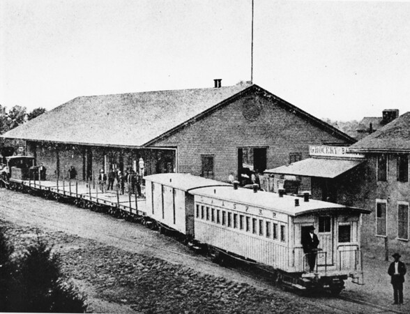 Alameda Depot of the Los Angeles & San Pedro Rail Roads in Downtown Los Angeles