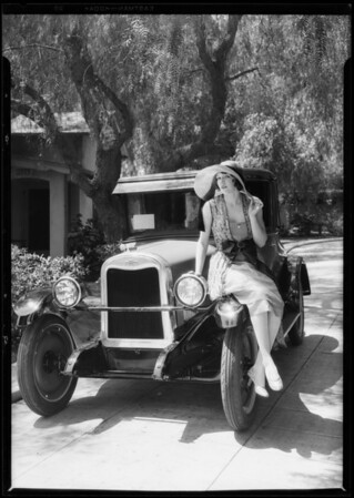 Chevrolet with Betty Boyd, Southern California, 1926