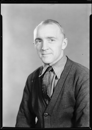 Portrait of former student Mr. Anthony Henery, National Automotive School, Southern California, 1930