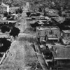 Early view of First Street looking east from Hill Street past Broadway and Spring Street in the Civic Center of Downtown Los Angeles