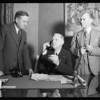 Mayor Porter & Mr. Beck at Mayor Porter's office, Southern California, 1932