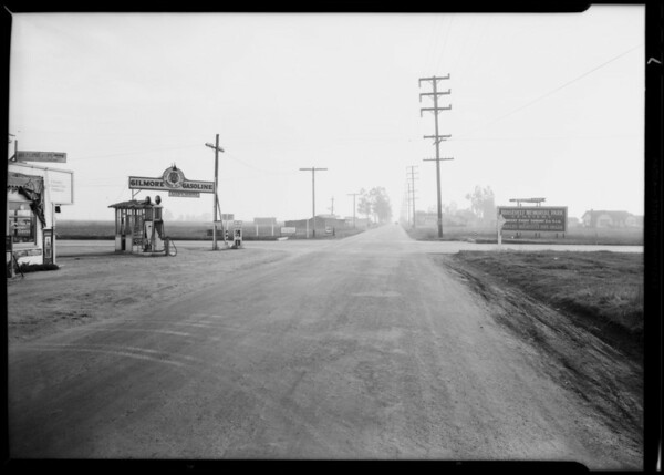 Wreck at 182nd and Western between Cadillac and Durant, 5533 South Western Avenue, Los Angeles, CA, 1930