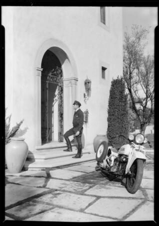Cycletow with Pontiac, doorways, etc., Southern California, 1932