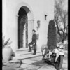 Cycletow with Pontiac, doorways, etc., Southern California, 1932