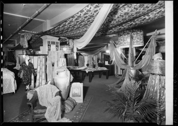 Curtain display, 7th floor, Broadway Department Store, Los Angeles, CA, 1927