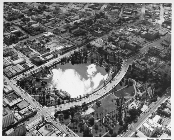 Aerial view of MacArthur Park