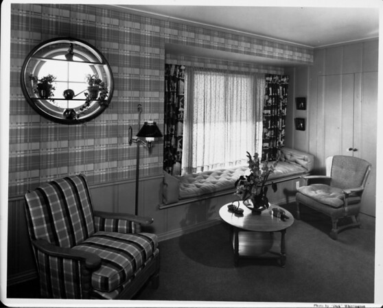 Home interior of 1948, living room