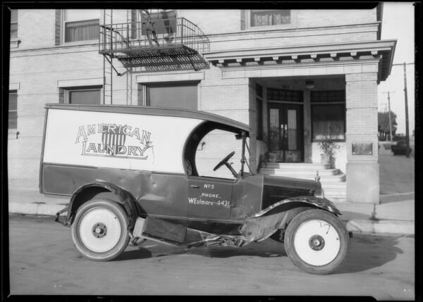 Laundry truck, Union Auto Insurance, Southern California, 1926