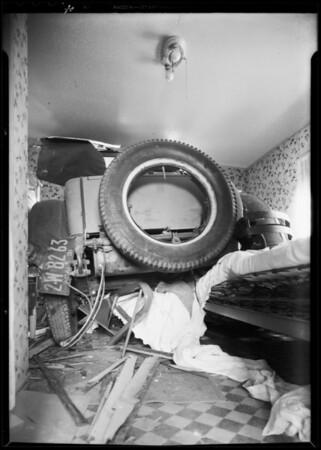 Car backed into house, 3409 Andrita Street, Los Angeles, CA, 1931