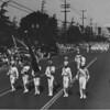 American Legion parade, Long Beach, drum corps flag bearers