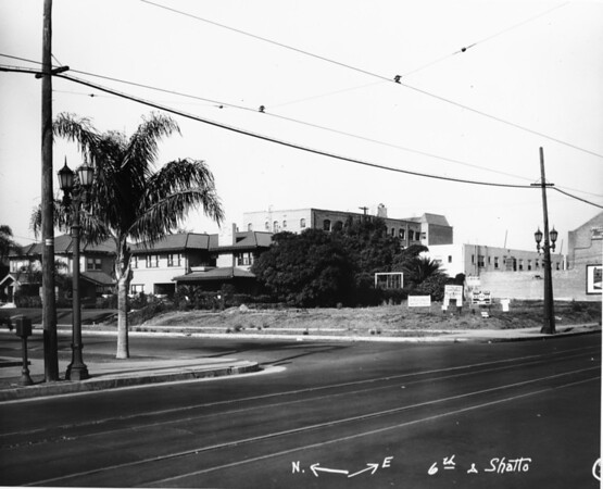 Looking northeast from the corner of Shatto Place and Sixth Street