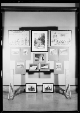 Playground exhibits, Southern California, 1932