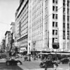 In Downtown Los Angeles facing south on South Broadway at West Seventh Street in front of the Loew's State Theate