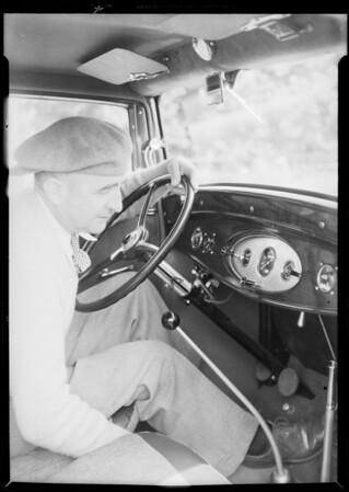 Ford run 30,000 miles, Eddie Pullen, Southern California, 1932