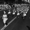 American Legion parade, Long Beach, drum corps, drum majorette