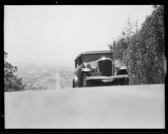 Terraplane on Micheltorena hill, Southern California, 1932
