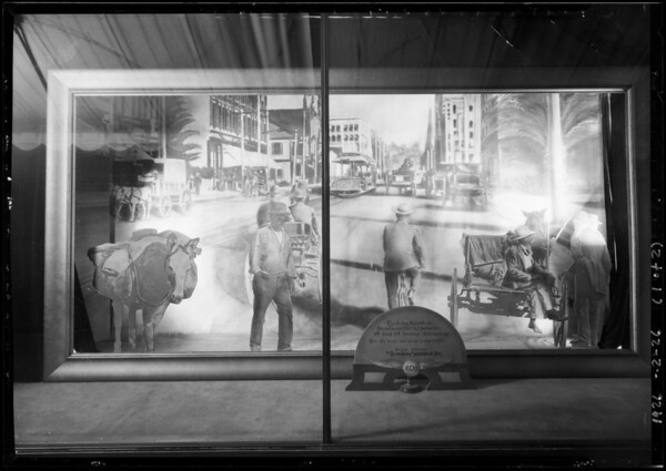 Anniversary windows, Broadway Department Store, Los Angeles, CA, 1926