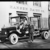 Hansen Dairy Co. truck, Southern California, 1928
