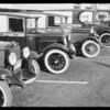 Balzer (grocer) fleet of cars, 135 North Larchmont Boulevard, Los Angeles, 1930