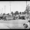 Wreck at Venice Boulevard and La Brea, Los Angeles, CA, 1931