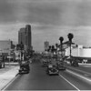 On Wilshire Boulevard looking west from Serrano Avenue