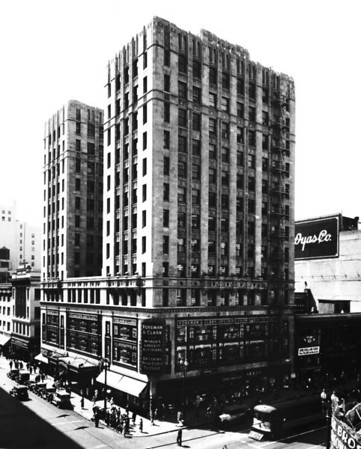 Foreman & Clark Department Store located in the Foreman Building on the corner of Seventh Street and Hill Street