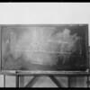 Blackboard, Intersection, Melrose Avenue & Hudson Avenue, Southern California, 1931