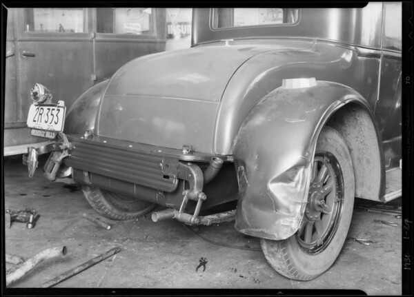 Car belonging to policeman  of Beverly Hills, Southern California, 1930