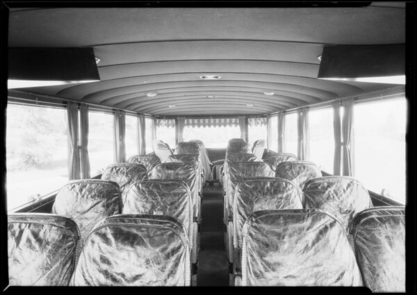 Tanner cars for M. O'Day, includes large bus, Southern California, 1926