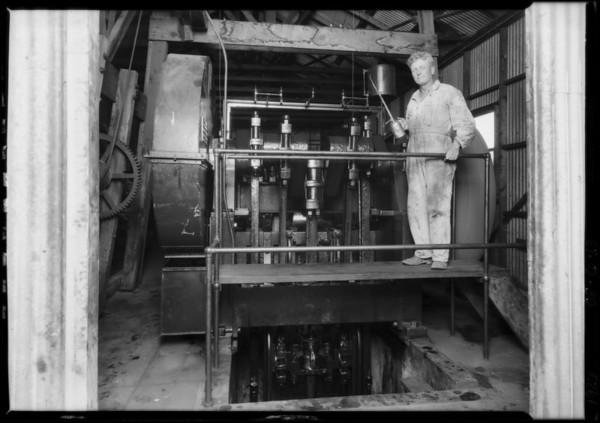 Pomona Pump Installation at Orange, Southern California, 1926