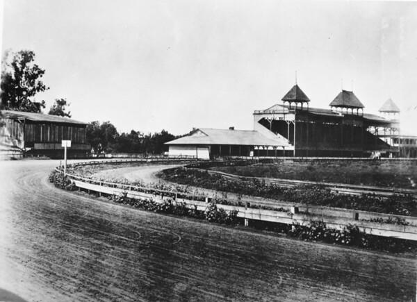 Empty racetrack