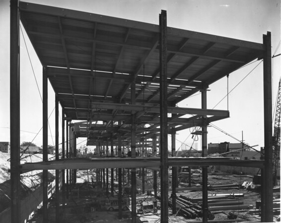 Building under construction in the vicinity of the Civic Center