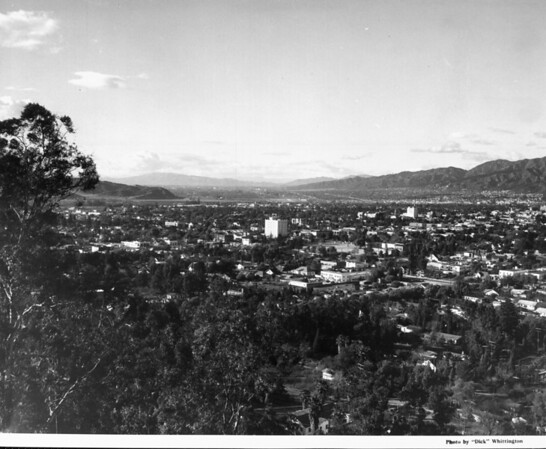 A panoramic [aerial] view of the Glendale skyline, showing both commercial and residential areas