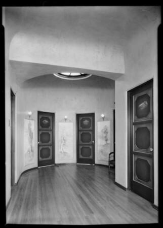 Interior, 336 North Poinsettia Place, Los Angeles, CA, 1931