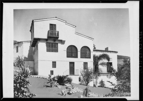Copy of retouched prints for Mr Stiles, Southern California, 1927