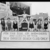 Marmon car & show girls at Gables Club-- India Tires, Southern California, 1926