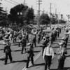 A marching band in the American Legion Parade